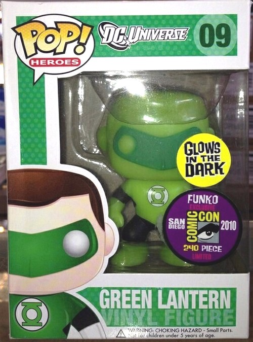 20 Of the most collectable and rarest Funko Pop Vinyls - Glow in the dark Green Lantern