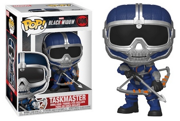 Black Widow Funko Pop Movie Figure Checklist - Taskmaster with crossbow