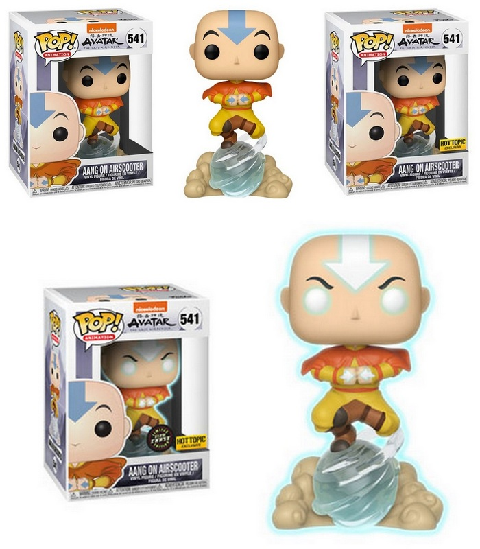 Product image Avatar: Last Airbender 541 Aang on Airscooter - Aang on Airscooter Hot Topic and Aang GITD Chase - Hot Topic Funko Pop Vinyl Figure