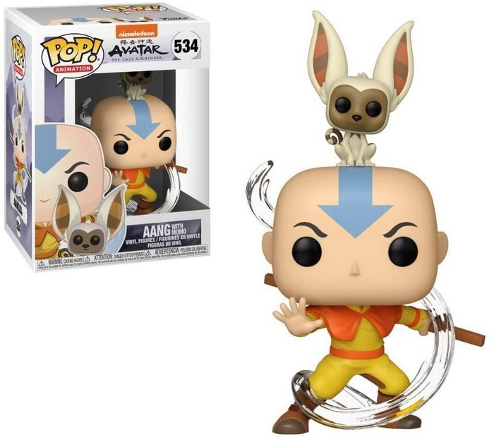 Product image - Avatar: The Last Airbender -534 Aang with Momo Funko Pop Vinyl