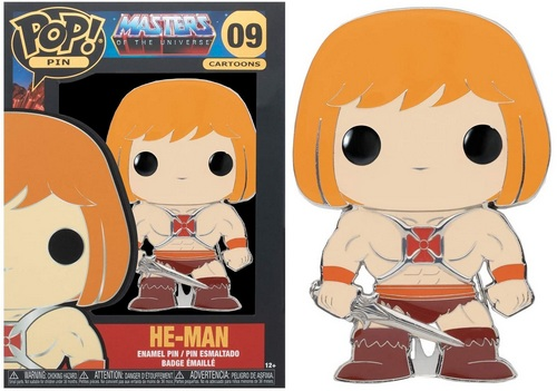 Product Image - Masters Of The Universe - 09 He-Man Funko Pop Pin (Common)