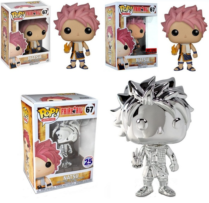 Product images for - Fairy Tail 67 Natsu - Natsu Hot Topic Exclusive - Natsu Chrome Funimation Exclusive