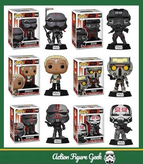 Pinterest share image - The Bad Batch Funko Pop Figures Checklist And Gallery.
