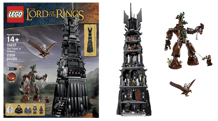 Product image - LEGO 10237 Lord of The Rings - The Tower of Orthanc Building Set (2359 pcs)