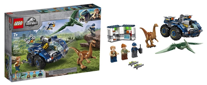Product image - LEGO Jurassic World Gallimimus and Pteranodon Breakout 75940, (391 Pieces)
