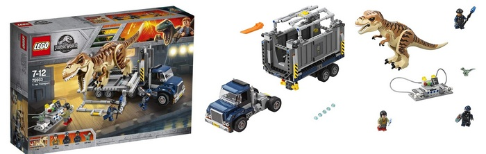Product image - LEGO Jurassic World T-Rex Transport 75933 (609 Pieces)