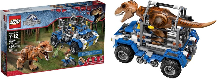 Product image - Jurassic World T. Rex Tracker 75918 (520 pieces)