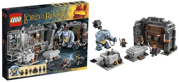 Product image - LEGO The Lord of the Rings Hobbit The Mines of Moria (9473)