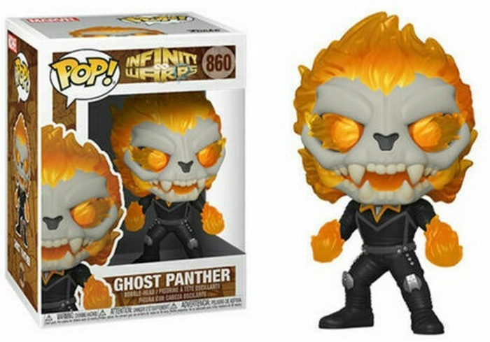 Product Image - 860 Ghost Panther - Funko Pop Marvel Infinity Warps Pop Checklist And Buyers Guide