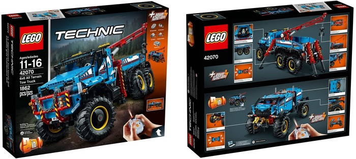 Product image front and back of box - LEGO Technic 6x6 All Terrain Truck