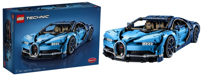 Product image - LEGO Technic Bugatti Chiron Race Car Building Kit and Engineering Toy, Adult Collectible Sports Car with Scale Model Engine (3599 Pieces)