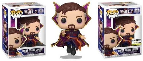 Product image - Funko Pop - Marvel What If? 874 Doctor Strange Supreme and Doctor Strange Supreme Glow-in-the-Dark Amazon Exclusive