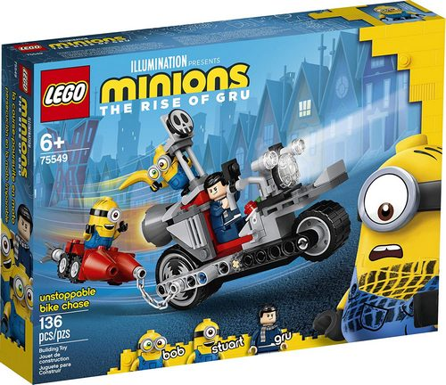 Product image - LEGO Minions Unstoppable Bike Chase 75549 (136 Pieces)