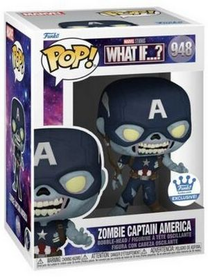 Product image - Zombie Captain America - FunkoShop - Funko Pop Marvel What If? Checklist and Buyers Guide