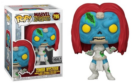 Product image - 795 Zombie Mystique - FYE Exclusive - Best Funko Pop Marvel Zombies - Checklist and Buyers Guide