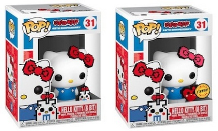 Product image - Hello Kitty 8-Bit 31 - 45th Anniversary and Chase with Heart Hello Kitty Funko Pop Checklist