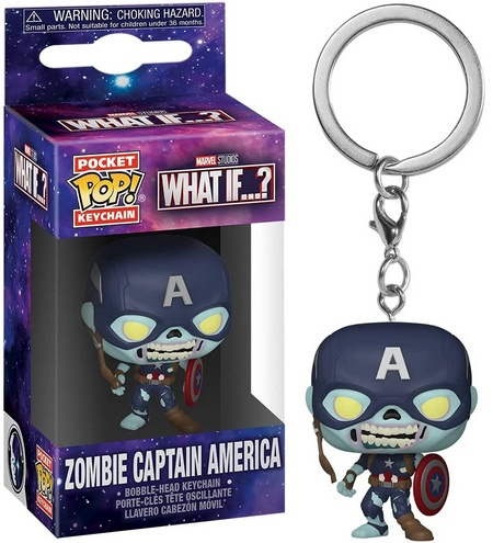 Product image - What If? - Zombie Captain America Funko Pop Keychain