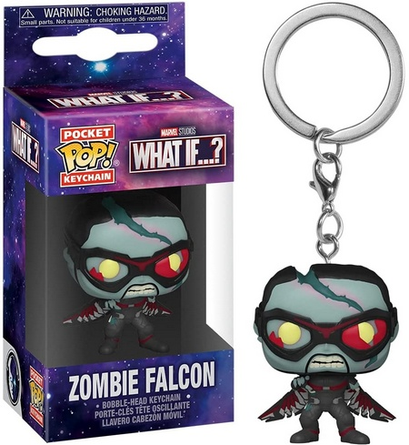 Product image - Funko Pop Keychain - What If? - Zombie Falcon