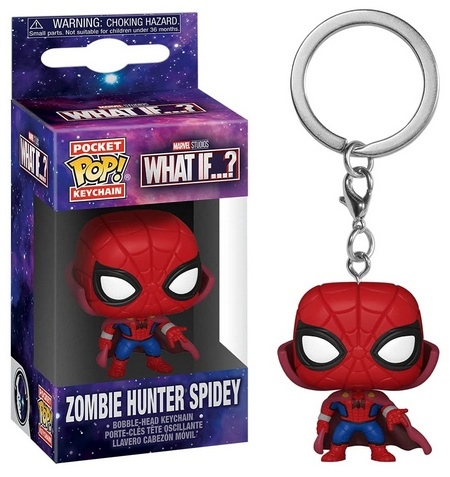 Product image - Funko Pop Keychain - What If? - Zombie Hunter Spidey