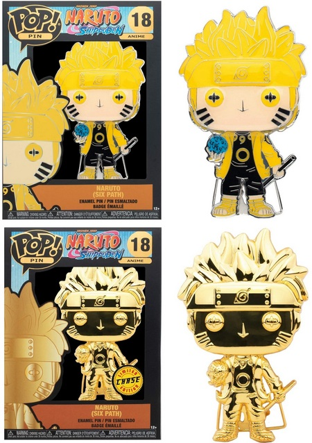 Product Image - 18 Naruto Six Path - Common and Chase Funko Pop Pins