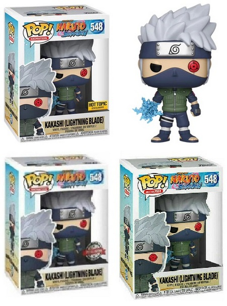 Product image - Naruto Shippuden 548 Kakashi (Lightning Blade) - Hot Topic Exclusive, Special Edition, and Common Figures