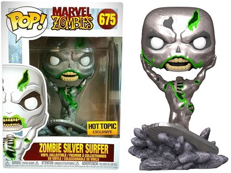 Product image - 675 Zombie Silver Surfer - Hot Topic Exclusive Funko Pop