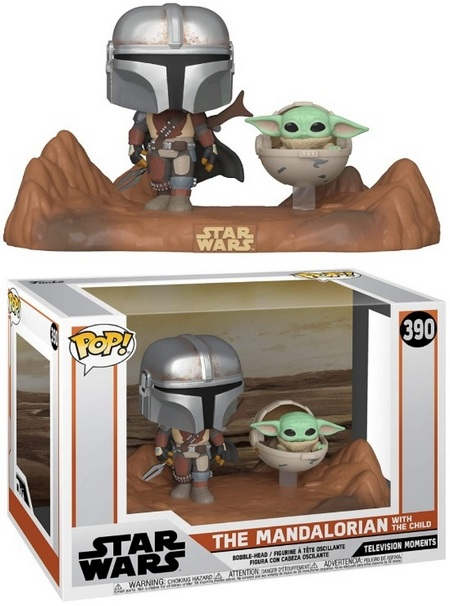 Product image - Mandalorian with Child 390 (Television Moments) - The Mandalorian Funko Pop Checklist
