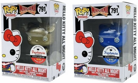 Product image - Blue and GoldMetallic Hello Kitty All Might Funhouse Custom Exclusives